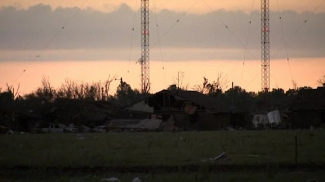Daybreak in Oklahoma as death toll remains unknown