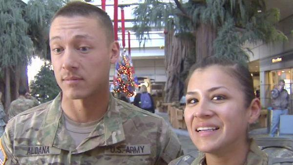 Valley couple among soldiers home for the holidays