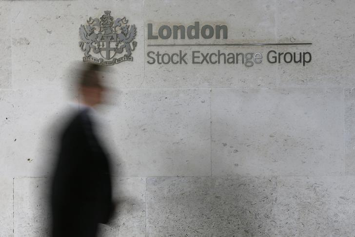 FTSE ends near record highs, commodity shares up