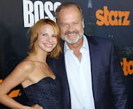 Kelsey Grammer and Kayte Grammer arrive at the season premiere of 'Boss' in Hollywood, Calif. on October 6, 2011 -- Getty Premium