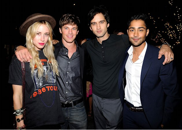Gillian Zinser, Matt Lanter, Michael Steger, and Manish Dayal of &quot;90210&quot; attend The CW Fall Premiere party presented by Bing at Warner Bros. Studios on September 10, 2011 in Burbank, California. 
