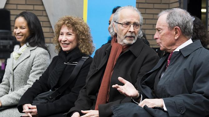 """From left to right, Yvette L. Campbell, Lani Hall, Herb Albert and Mayor Michael R. Bloomberg attend the """"Harlem School of the Arts - The Herb Alpert Center"""" building naming ceremony, on Monday, March 11, 2013 in New York. (Photo by Charles Sykes/Invision for Harlem School of the Arts/AP Images)"""
