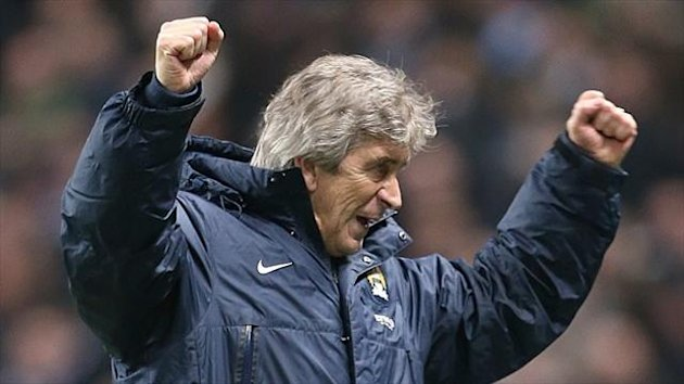 Manuel Pellegrini is happy with Manchester City's current league position
