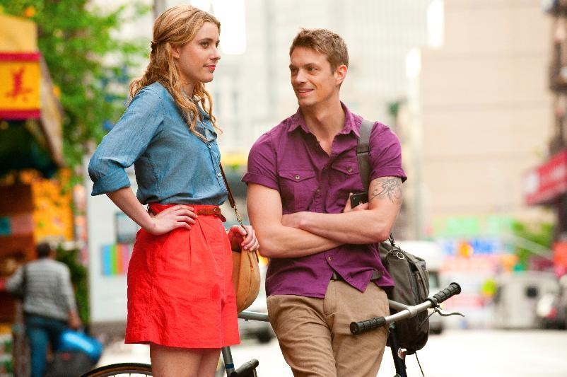 "This undated film image released by Fox Searchlight shows Greta Gerwig, left, and Joel Kinnaman in a scene from ""Lola Versus."" (AP Photo/Fox Searchlight, Myles Aronowitz)"