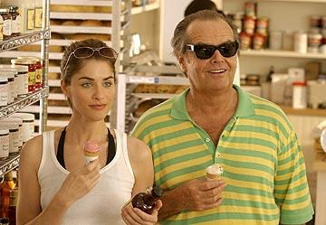 Amanda Peet and Jack Nicholson in Columbia's Something's Gotta Give