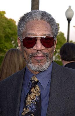 Morgan Freeman at the premiere of Paramount's Along Came A Spider