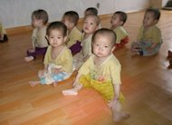 File photo of malnourished children at an orphanage in Chongjin City, in North Korea's North Hamgyong province. North Korea's chief nuclear envoy says UN atomic inspectors will return soon to his country as part of a food aid deal with the United States, according to a news report Tuesday