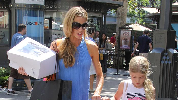Exclusive... Denise Richards Leaving A Private Party At The Grove