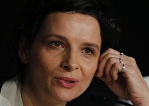 "Cast member Juliette Binoche attends a news conference for the film ""Sils Maria"" in competition at the 67th Cannes Film Festival in Cannes"
