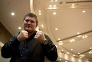 Former world boxing champion Ricky Hatton poses for a picture in Hong Kong. Hatton says he has put his drugs, drink and depression nightmare behind him as he relishes his new life outside the ring as a promoter