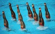 In addition to a team event, synchronized swimming was a solo Olympic event in the late 1980s and early 1990s