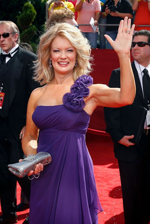 Mary Hart arrives at the 60th Primetime Emmy Awards held at the NOKIA Theatre on Septmeber 21, 2008 in Los Angeles, California.
