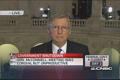 Sen. McConnell: No one favors government shutdown
