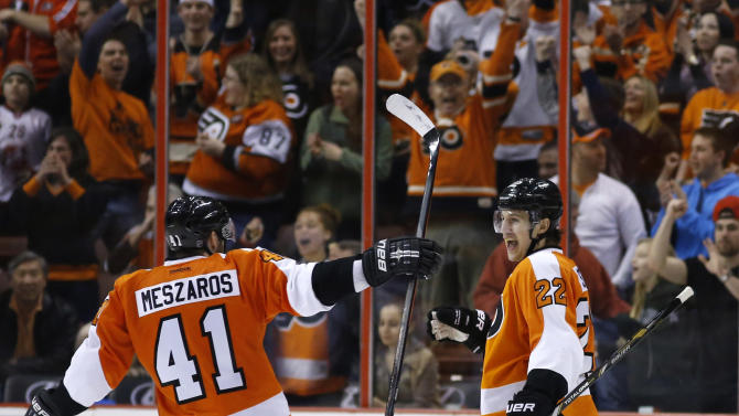 Flyers topple Rangers 4-2