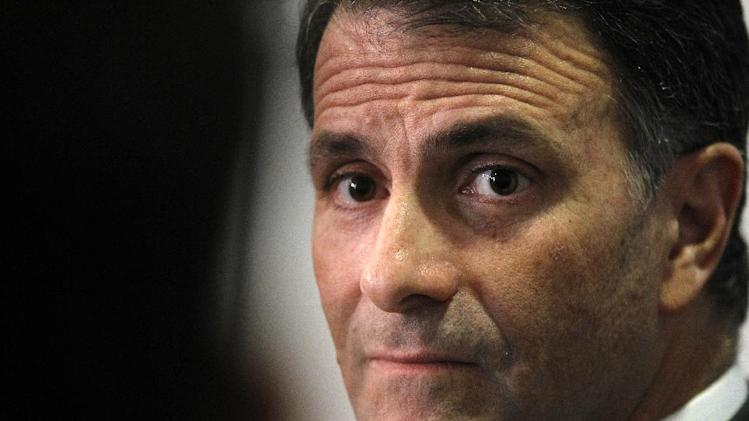 FILE - This Feb. 2, 2012 file photo shows former lobbyist Jack Abramoff speaking in Washington. Federal appeals court judges reviewing the conviction of former lobbyist Kevin Ring in the Jack Abramoff scandal questioned Thursday whether evidence of campaign contributions should have been allowed at his trial.  (AP Photo/Charles Dharapak, File)