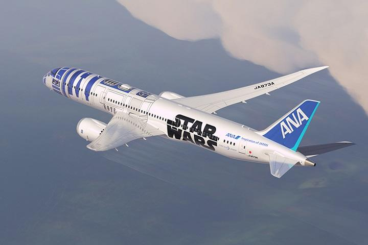 Watch Japan's 'Star Wars' R2-D2 Plane in Action