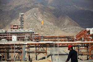 An Iranian man at the South Pars gas field facilities …