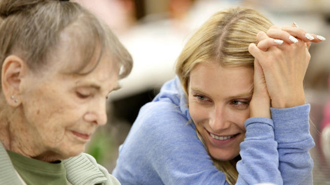 """This film image released by Music Box Films shows Dree Hemingway, right, and Besedka Johnson, in a scene from """"Starlet.""""  Johnson, who became an actress at age 85 and won praise for last year's movie """"Starlet,"""" died on April 4 at Glendale Memorial Hospital of complications following surgery for a bacterial infection, her son, Jim Johnson, told the Los Angeles Times. Besedka Johnson played the cranky widow Sadie, who befriends Dree Hemingway in last year's movie. It was her only role. She was 87. (AP Photo/Music Box Films, Augusta Quirk)"""