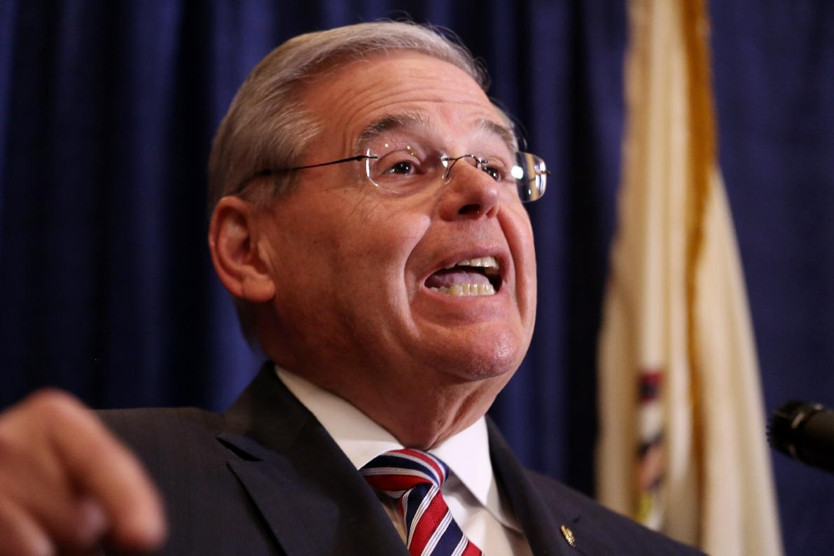 New Jersey Sen. Menendez vows to fight corruption charges