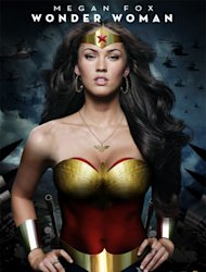 Megan Fox mocked-up into a fan-made Wonder Woman movie poster.