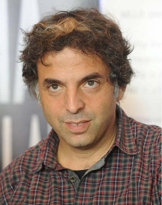 Israeli writer  Etgar Keret speaks during a press conference one day ahead of the official opening of one of the worlds narrowest houses, in Warsaw, Poland, Friday, Oct. 19, 2012. The two-level Kere