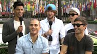 The Wanted appear on Access Hollywood Live on August 22, 2012 -- Access Hollywood