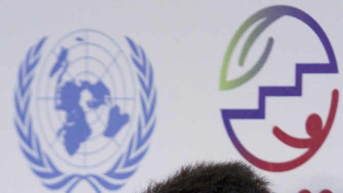 Edward Norton, actor and United Nations Goodwill Ambassador for Biodiversity, attends a news conference about the Convention on Biological Diversity at the UN Conference on Sustainable Development, or Rio+20, in Rio de Janeiro, Brazil, Thursday, June 21, 2012. (AP Photo/Victor R. Caivano)