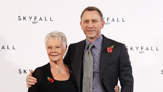 Skyfall press conference 2011 Judi Dench Daniel Craig