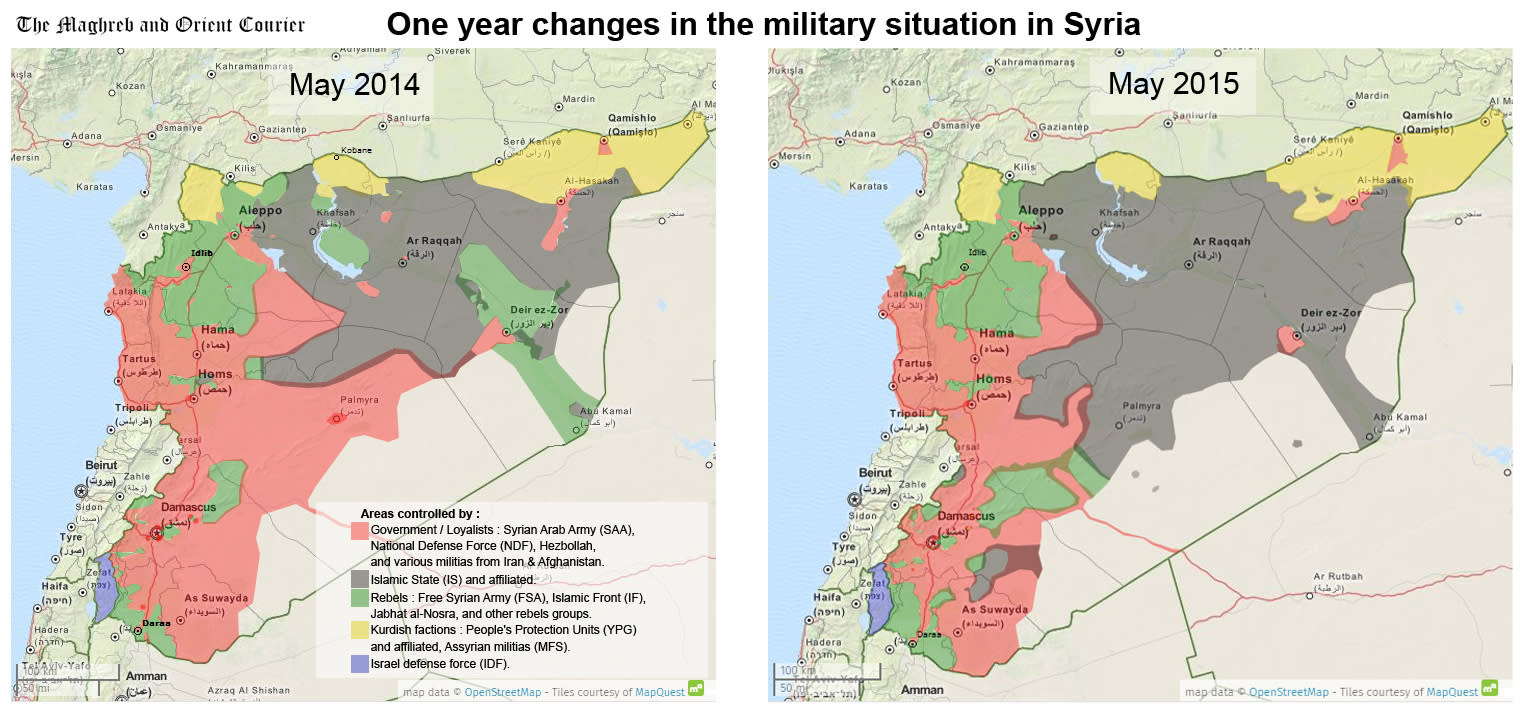 These maps show what ISIS has achieved in the last year