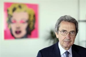Franco Bernabe, Telecom Italia chairman and CEO, poses in his office in Rome