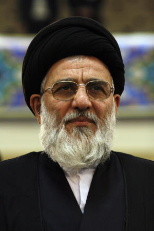"In this Tuesday, Dec. 4, 2007 photo, former Iran's judiciary chief Ayatollah Mahmoud Hashemi Shahroudi attends a conference in Tehran, Iran. Iraqi insiders say Iran's desire to have its own man at the top of Iraq's clerical hierarchy is resting on the shoulders of Grand Ayatollah Mahmoud Hashemi al-Shahroudi. The 63-year-old cleric, they explain, has the pedigree, connections and qualifications to become the next ""al-marja al-akbar,"" or the ""greatest object of emulation,"" a much revered position held by Iranian-born Grand Ayatollah Ali al-Sistani since the early 1990s.(AP Photo/Vahid Salemi)"