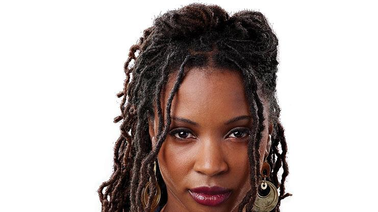 "Shanola Hampton as Veronica in ""Shameless."""