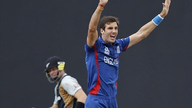 England&#39;s Steven Finn against New Zealand at the World Twenty20 (Reuters)