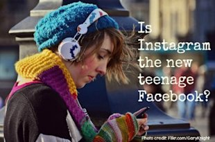 Is Instagram The New Teenage Facebook?  image Instagram the new teenage Facebook
