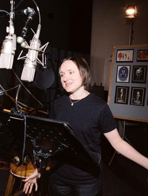 Sarah Vowell records the voice of Violet in Disney and Pixar's The Incredibles