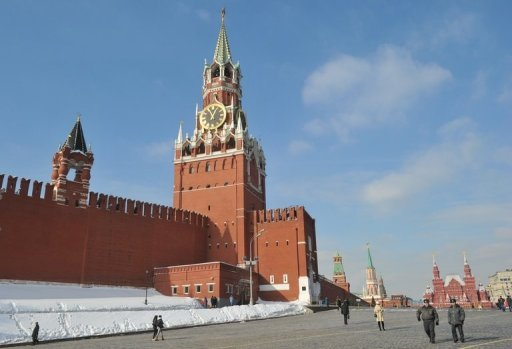 The Kremlin wall and towers dominate the skyline at Red Square in Moscow, on March 2, 2012