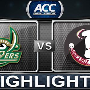 Charlotte vs Florida State | 2013 ACC Basketball Highlights