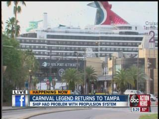 troubled cruise ship docked, passengers to disembark