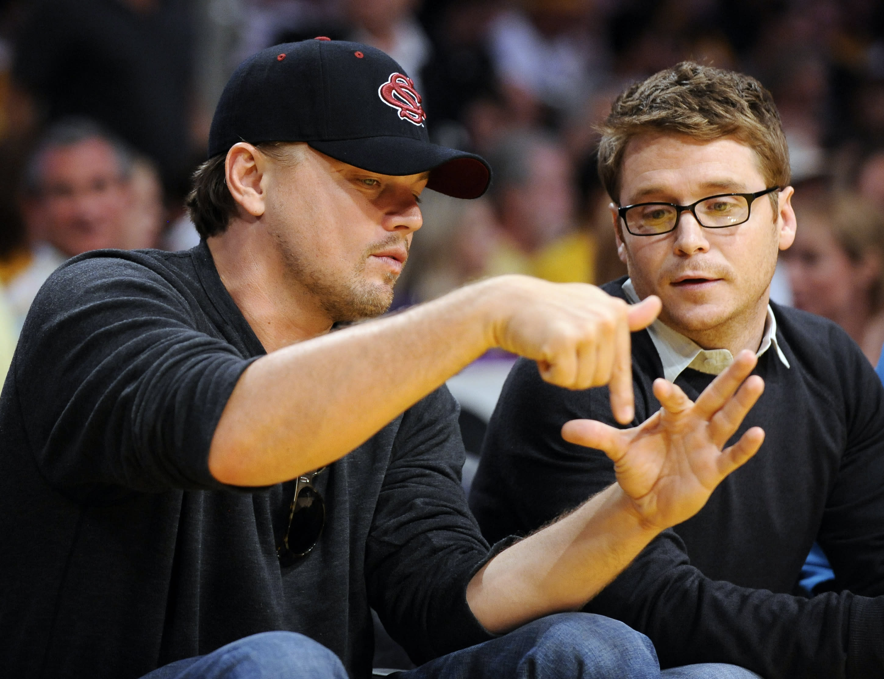 DiCaprio and Connolly - Lakers 'Entourage' Since 1998