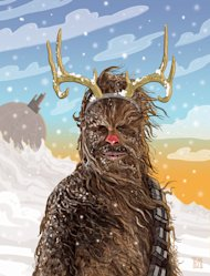 """He can tear the antlers off a Gungan reindeer"""
