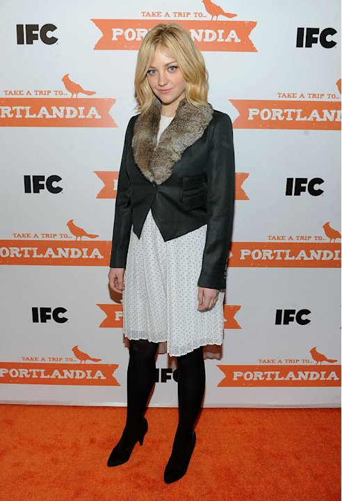 "Abby Elliott attends the ""Portlandia"" Season 2 premiere screening at the American Museum of Natural History on January 5, 2012 in New York City."