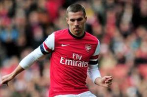 'S*** happens' - Podolski calls on Arsenal fans' support after Manchester City defeat