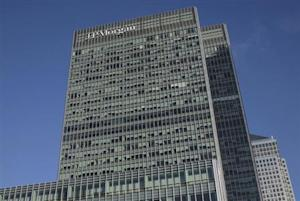 The offices of JP Morgan in the Canary Wharf district of London