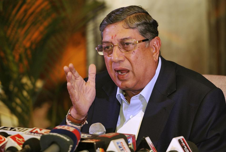 BCCI Chief Narayanaswami Srinivasan Holds A Press Conference In Kolkata