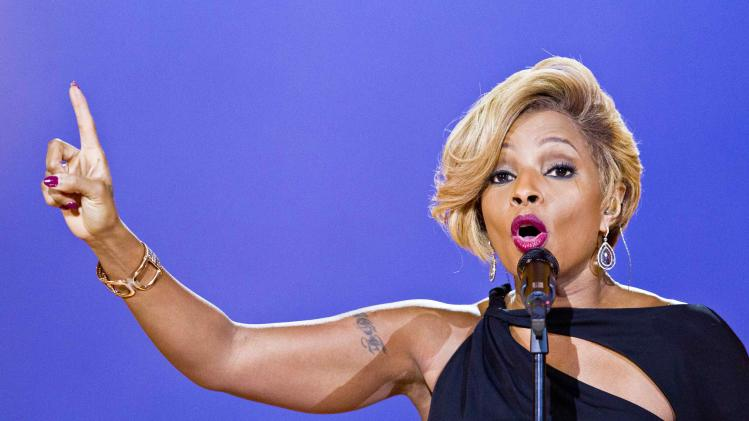 Singer Mary J. Blige performs during the Nobel Peace Prize concert in Oslo