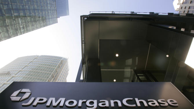 FILE - In this Oct. 15, 2008 file photo, an exterior view of JPMorgan Chase offices is shown in San Francisco. The New York attorney general's office has hit JPMorgan Chase & Co. with a civil lawsuit, alleging that investment bank Bear Stearns — prior to its collapse and subsequent sale to JPMorgan in 2008 — perpetrated massive fraud in deals involving billions in residential mortgage-backed securities. (AP Photo/Paul Sakuma, file)
