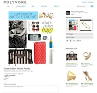 A screenshot of Nicole Richie's hand-picked items for Polyvore's new series