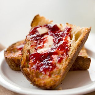 Slathered with good butter and jam