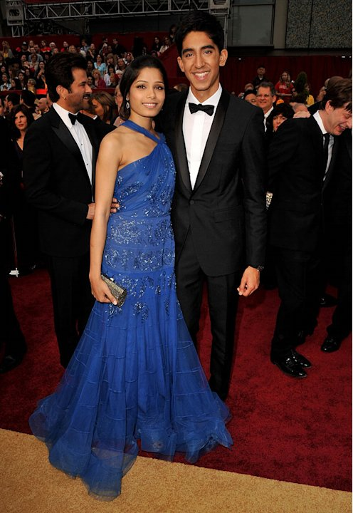 Actors Freida Pinto and Dev Patel arrive at the st Annual Academy Awards held at The Kodak Theatre on February in Hollywood California arrivals