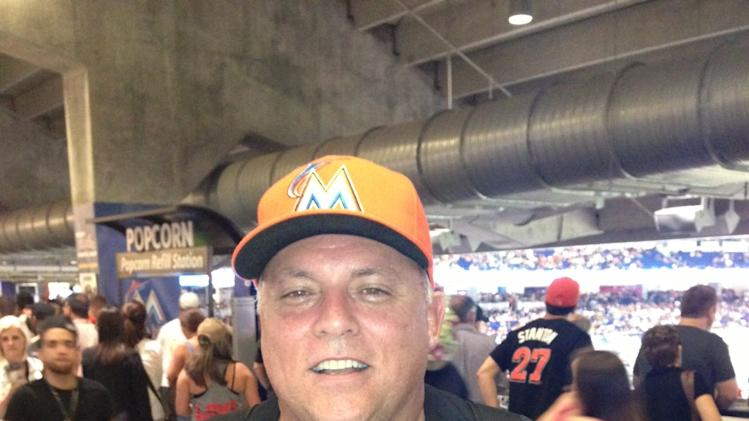 Marlins fan Dave Argenti.